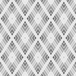 diamond fret : pale grey