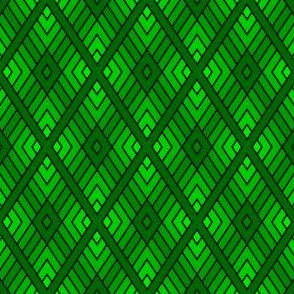 05000745 : diamond fret : dark emerald green