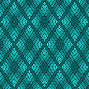 diamond fret : teal cyan