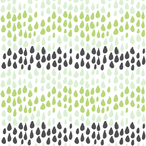 Pencil sketch geometry - green grass - raindrops 01 fabric by aliceelettrica on Spoonflower - custom fabric