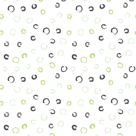 Pencil sketch geometry - green grass - dots fabric by aliceelettrica on Spoonflower - custom fabric