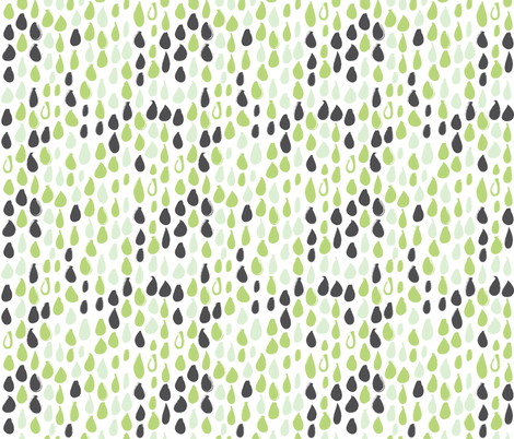Pencil sketch geometry - green grass - raindrops 02 fabric by aliceelettrica on Spoonflower - custom fabric