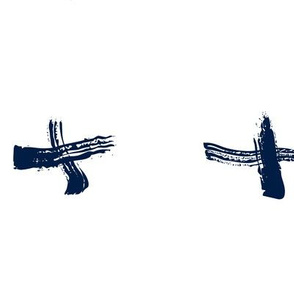 Pencil sketch geometry - midnight blue - crosses 01 - big