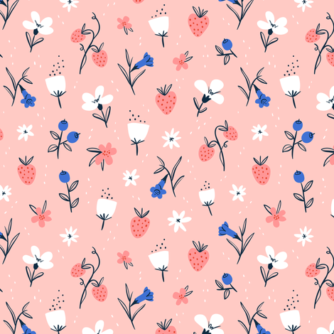 Abstract flowers fabric by stolenpencil on Spoonflower - custom fabric