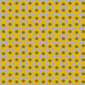 Yellow petals on gray