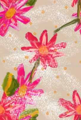 Bold Pink Florals