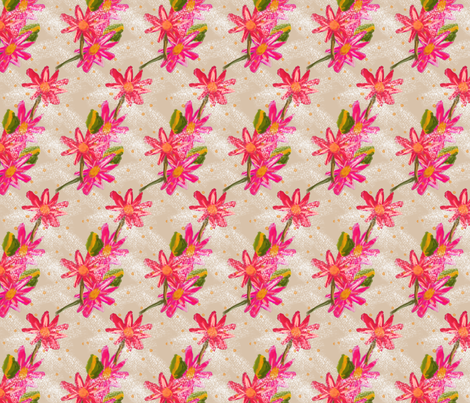 Bold Pink Florals fabric by boundingsquirrel on Spoonflower - custom fabric