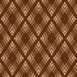 diamond fret : chocolate brown