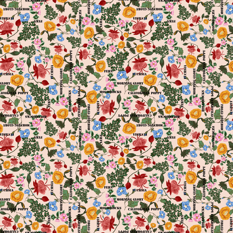 botanical_sketch_book fabric by anino on Spoonflower - custom fabric