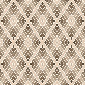 diamond fret : beige brown