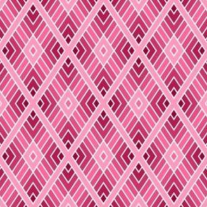 diamond fret : dark rose pink