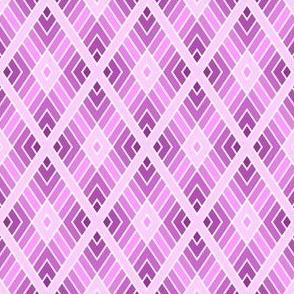 diamond fret : mauve magenta