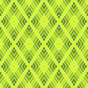 diamond fret : chartreuse lime