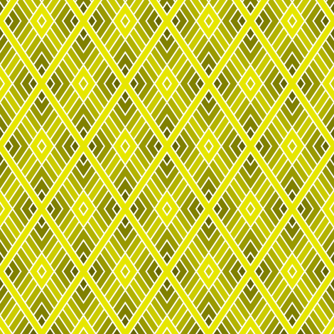 05001134 : diamond fret : yellow olive fabric by sef on Spoonflower - custom fabric