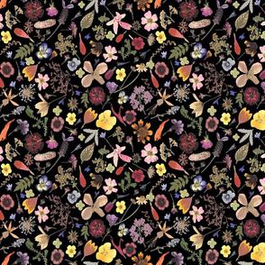Dark Ditsy  Floral Garden