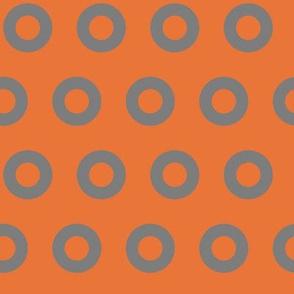 Gray & Orange Os