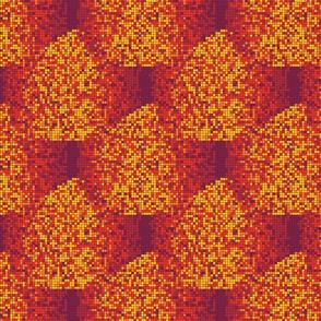 Pixel Wave Warm Colors