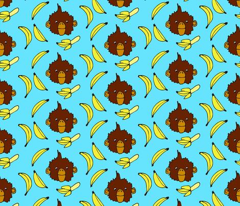 Bananas for Monkeys fabric by eileenmckenna on Spoonflower - custom fabric