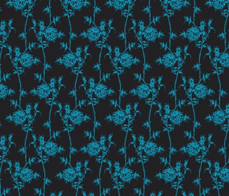 Climbing vine in blue fabric by nissalynn on Spoonflower - custom fabric