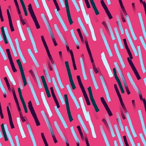 Bohemian Abstract | Flashes on Hot Pink
