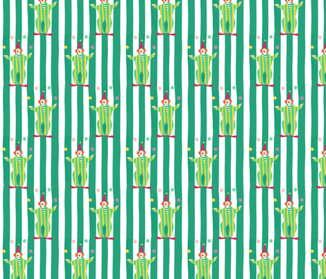 Clowns (green) fabric by lydia_meiying on Spoonflower - custom fabric