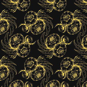 Peony - in yellow and black