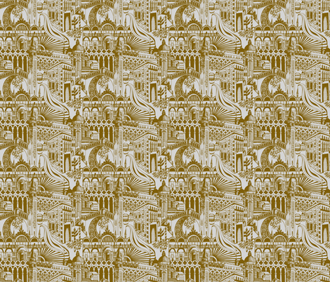 Cities of the World - Venice fabric by katetortland on Spoonflower - custom fabric