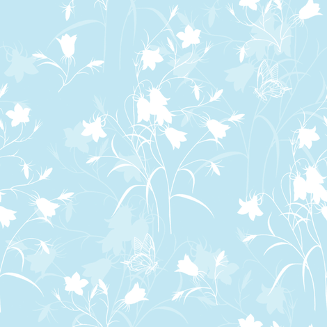 Kerttu in aqua fabric by lilyoake on Spoonflower - custom fabric