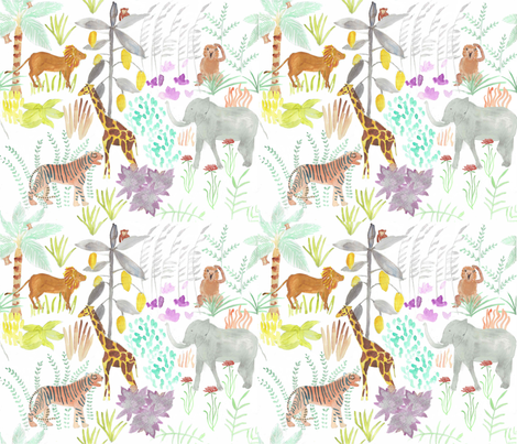 What_became_of_the_monkey? fabric by amanda_jane_textiles on Spoonflower - custom fabric