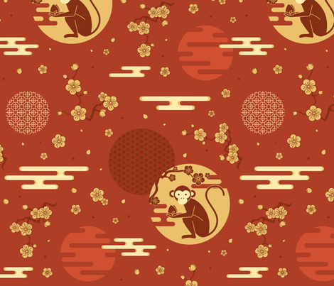 monkey fabric by daniserpa on Spoonflower - custom fabric