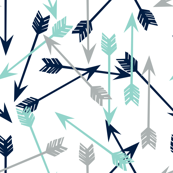 arrows // navy mint grey boy nursery kids