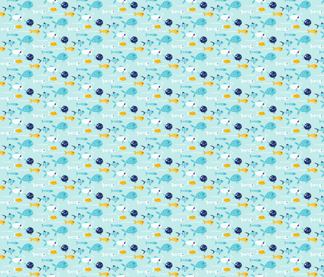 Pirate Fish fabric by sketchandpixel on Spoonflower - custom fabric