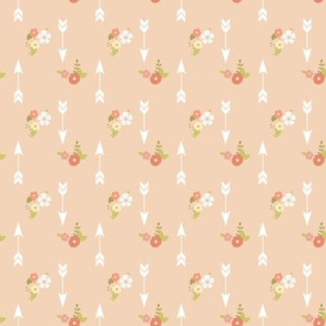 Mini arrows and flowers on blush