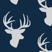 Grey deer on midnight blue