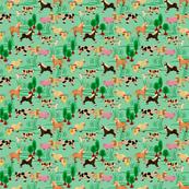 farm animals | green | 6 x 6 inch