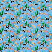 farm animals | light blue | 6 x 6 inch