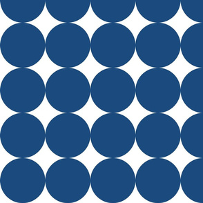 Huge Polka Dots - Cobalt Blue by Friztin