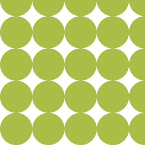 Huge Polka Dots - Green Grass by Friztin