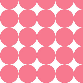 Huge Polka Dots - Hot Pink by Friztin