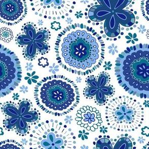 Organic Medallions - Blue Sky