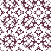 Abstract in Grape and White