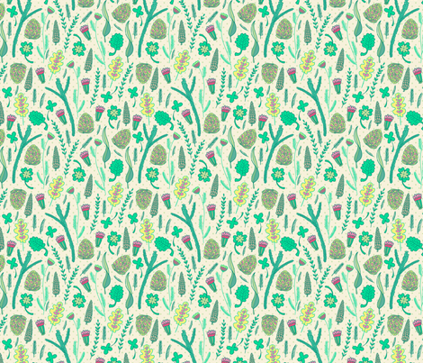Forest herbs fabric by mzwonko on Spoonflower - custom fabric