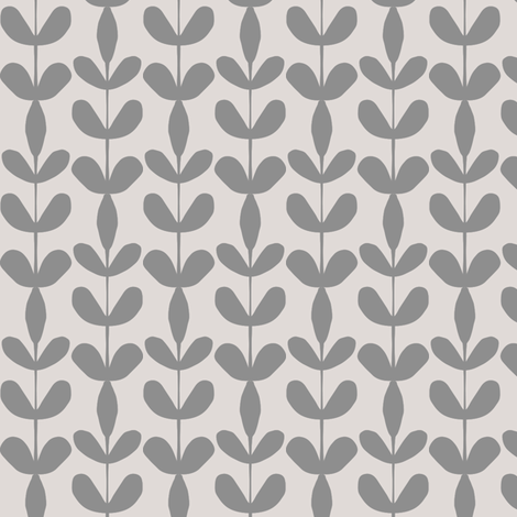 Leaves Stacked Grey fabric by anniemathews on Spoonflower - custom fabric