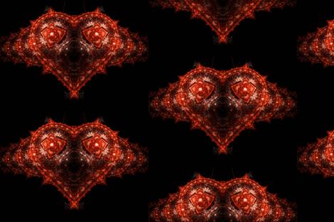 Antoine_Nehme_-_Heart_waves fabric by stradling_designs on Spoonflower - custom fabric