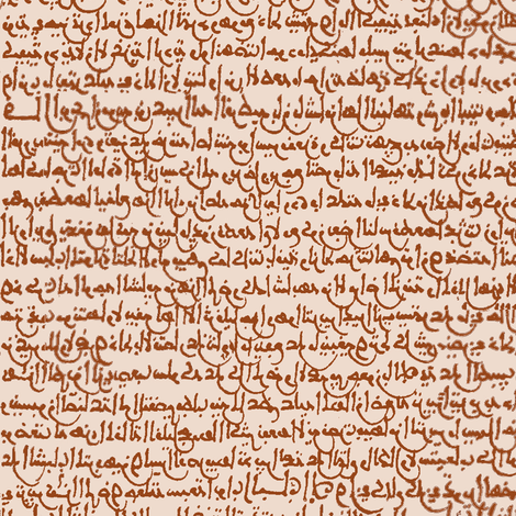Ancient Arabic in Copper // Small fabric by thinlinetextiles on Spoonflower - custom fabric