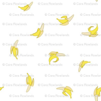 Banana Ditsy on White