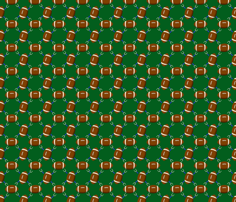Football and Goal Posts fabric by rhyannon on Spoonflower - custom fabric