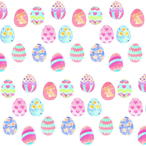 easter egg decorative mini fabric by erinanne on Spoonflower - custom fabric
