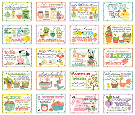Mom's Kitchen Sink Advice Signs fabric by sheri_mcculley on Spoonflower - custom fabric