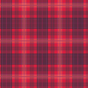 Crimson Clover Tartan Plaid Pattern
